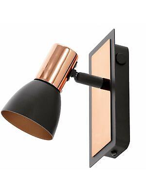 Aplique Spot LED 3,3w Moderno Orientable Cobre Negro Coll. Glo 94584 Barnham