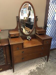 Antique Timber Dressing Table Wangara Wanneroo Area Preview