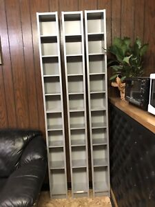 4 Tall IKEA shelves
