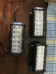 "3 6"" LED light bars"