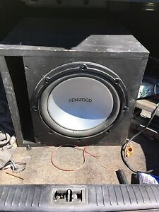 "12""kenwood sub with 400watt amp"