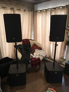 Electro voice speaker and subs