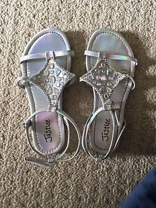 Size 2 sandals from justice