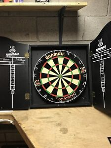 Winmau darts professional set- complete cabinet, board and darts