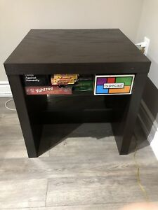 Solid Wood Cube Living Room Side Table