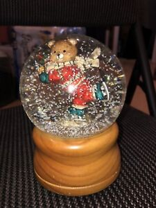 Christmas teddy bear snow globe!