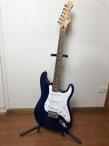 Phil Pro Blue Electric Guitar and Mega Amp GL20
