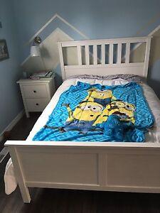 IKEA Double Bed & Nightstand