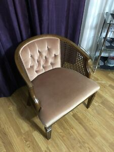 Cane barrel back Vintage Chair
