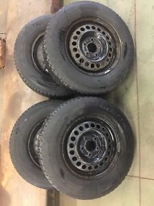 Winter wheels and tires 215/70/15 Nordic