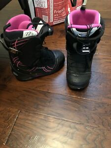 Burton Social snowboard with attached drake bindings