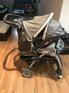 Chicco car seat and stroller.