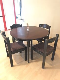 90cm Round Dining Table As New