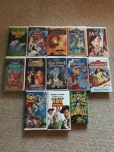 Various VHS Tapes- including Disney, Star Wars, Hockey and more!