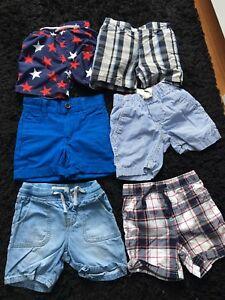 shorts pour garçon 18-24 mois