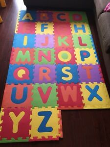 Kids play mats with alphabets
