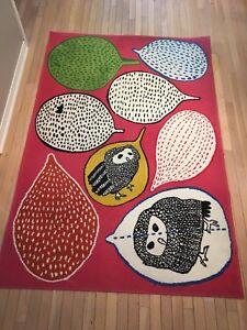 IKEA pink owl rug & lamp shade