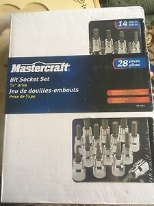 Master craft 3/8 bit socket set