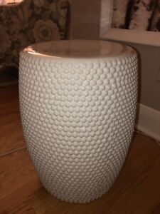 Beautiful white ceramic stools or side tables