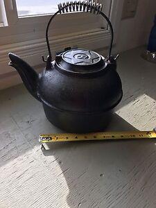 Antique Cast Iron Kettle