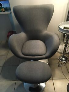 Modern Chair and Footstool