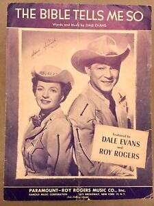 Dale Evans & Roy Rogers - The Bible Tells Me So (c)'55