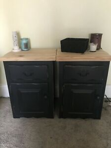 2 Matching Black Nightstands