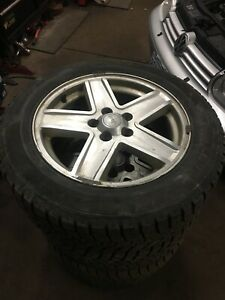 215 60R17 Winter Tires & Jeep Compass Wheels