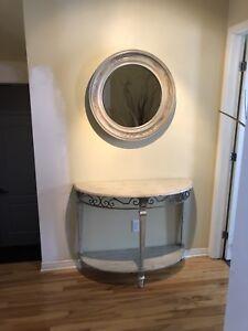 Meuble et miroir d'entrée ou passage