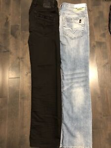 2 Jeans buffalo stretch  30  Payer 120 $ chacun 514-816-8322