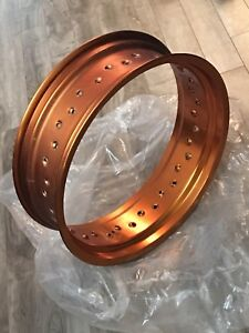 Mag jante orange DNA Racing conversion super moto - 17 x 5.00
