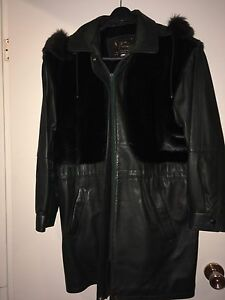 Leather with seal skin pelts