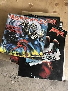 Heavy Metal Rock and Roll Vintage Records Albums
