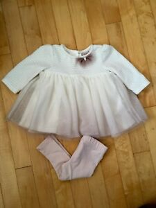 Baby girl dress with tights 0-3 months