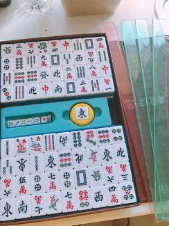 portable chinese mahjong rare game mahjong set