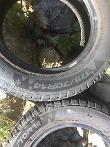 2 solid 175/70/14 winter tires