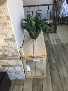 Solid hardwood entrance table