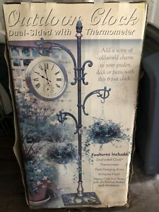 Outdoor clock and plant hanger