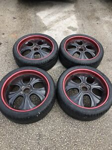 """305/35/24"""" rims and tires for sale"""