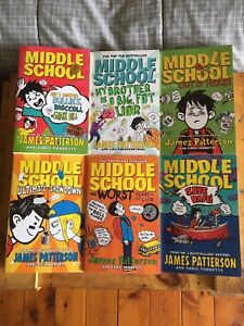 James Patterson Middle School Series 6 Books Childrens Books