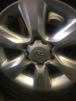 Genuine Toyota Prado/ Hilux 6 stud rims/tyres