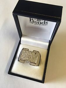 Men's white gold filled ring size 14 (large) Tumbulgum Tweed Heads Area Preview