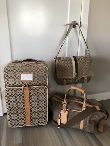 Authentic Coach Luggage 3 Piece Travel set