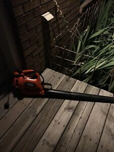 BLACK AND DECKER LEAF BLOWER ELECTRIC