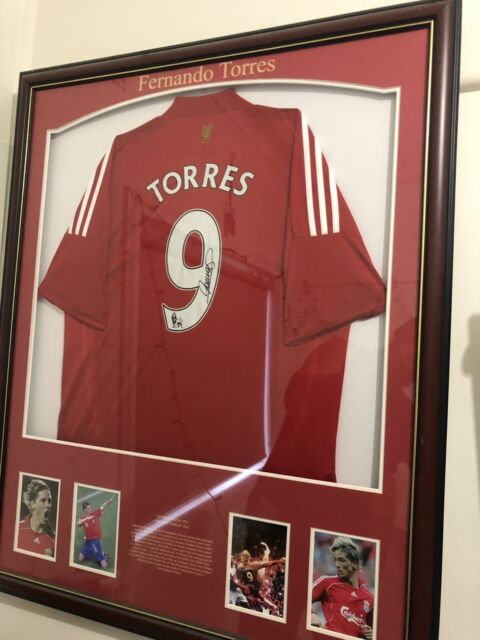 fernando torres signed liverpool jersey  f1d6ad772