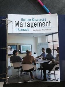 Human Resources management in Canada paperback book