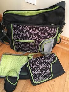 JJ Cole Collections System Diaper Bag, Black Damask