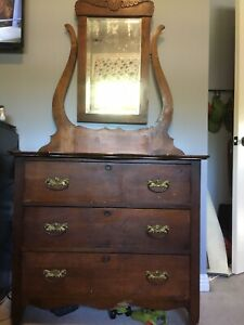 Antique Dresser and Bed