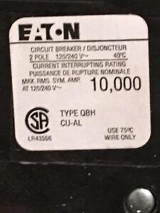 Eaton QBH 2 Pole 125A Breaker
