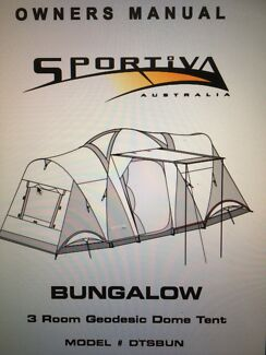 Sportiva Bungalow 3 dome 9 person tent & sportiva dome tents | Gumtree Australia Free Local Classifieds